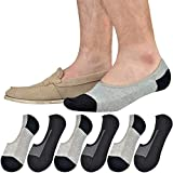 Jormatt 6 Pairs Mens Women Genuine No Show Socks Boys Sneaker Shoes Mesh Knit Low Cut Athletic Cotton Socks Non Slip,Men Shoes size 6-10