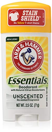 Arm & Hammer Essentials Natural Deodorant, Unscented 2.5oz (Packaging May Vary)
