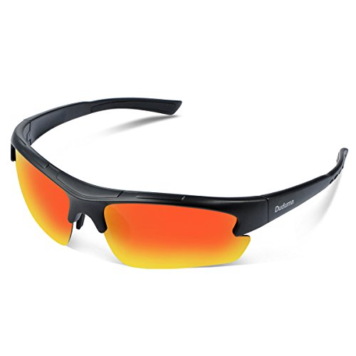 0c40ee5e09 Duduma Polarized Designer Fashion Sports Sunglasses for Baseball Cycling  Fishing Golf Tr62 Superlight Frame (Black