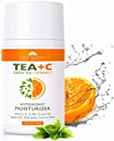 LILY SADO Green Tea and Vitamin C Face Moisturizer Cream - Antioxidant, Anti-Wrinkle Natural Facial Moisturizing Lotion - Softens, Hydrates, Firms & Tones for Amazing, Radiant Skin. For Women & Men