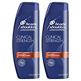 Head and Shoulders Shampoo, Anti Dandruff, Clinical Strength Seborrheic Dermatitis Treatment, 13.5 fl oz, Twin Pack