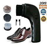 Electric Shoe Polisher Brush,Onefuntech Shoe Buffer Kit Shoe Shiner Dust Cleaner Portable Wireless Leather Care Kit for Shoes, Bags, Sofa