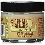 Primal Pit Paste Natural Deodorant Unscented 2 Ounces