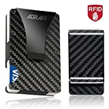 Minimalist Carbon Fiber Wallet - RFID Blocking Slim Wallet and Money Clip, Front Pocket Wallets for Men, Credit Card Holder, Great Gear for Everyday Carry, Maintenance Kit Included