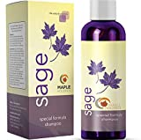 Maple Holistics Sage Shampoo for Anti Dandruff with Jojoba, Argan, and Organic Tea Tree Oil - Natural, Sulfate Free Treatment for Women and Men - Safe for Color Treated Hair (8 fl. oz.)