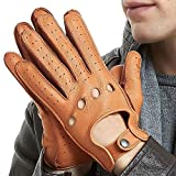 Mens Smart Soft and Luxury Genuine Deerskin Leather Driving Gloves 3 colours