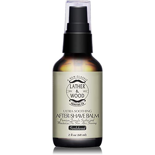 Best After-shave Balm, Sandalwood Scent, Premium Aftershave Lotion, Soothes and Moisturizes Face after shaving, Does Not Dry The Skin, Eliminates Razor Burn For A Silky Smooth Finish …