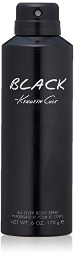 Kenneth Cole Black Body Spray for Men, 6.0 Fl Oz