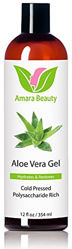 Aloe Vera Gel from Organic Cold Pressed Aloe for Face, Body, and Hair, 12 fl. oz.