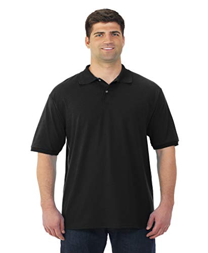 Spotshield Adult Jersey Sport Shirt Black - Jerzees 437M - Size 2XL