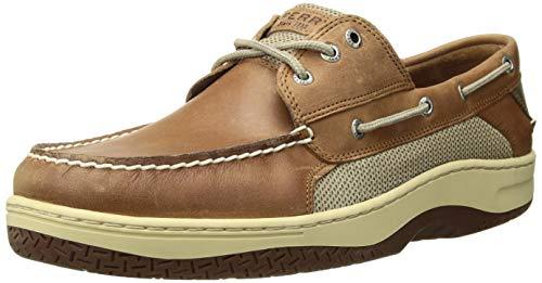 Sperry Mens Billfish 3-Eye Boat Shoe, Dark Tan, 10.5