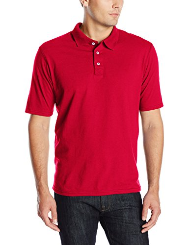 Hanes Men's X-Temp Performance Polo, Deep Red, X-Large