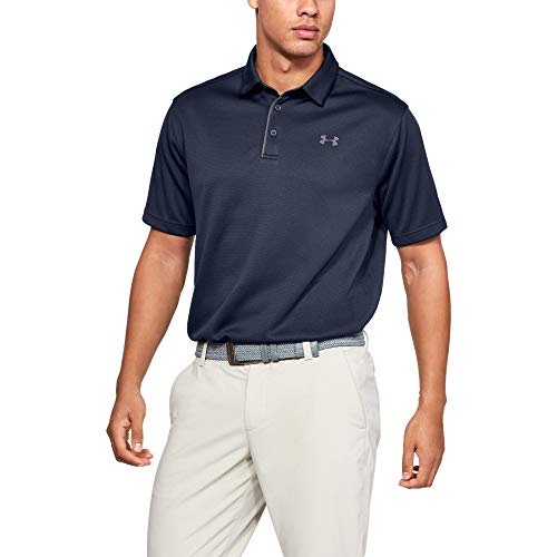 Under Armour Men's Tech Golf Polo , Midnight Navy (410)/Graphite , X-Large
