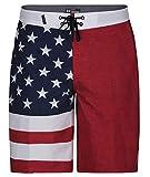 Hurley Men's Phantom Patriot Cheers USA Flag 20' Board Shorts, Gym Red, 38