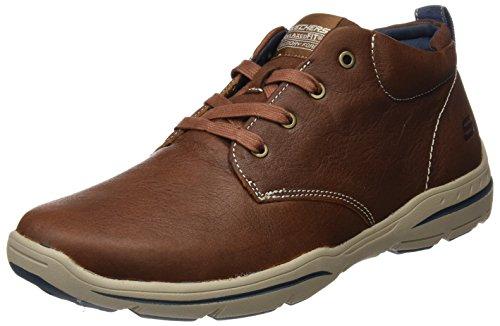 Skechers USA Men's Harper Meldon Chukka Boot,Chocolate,10 M US