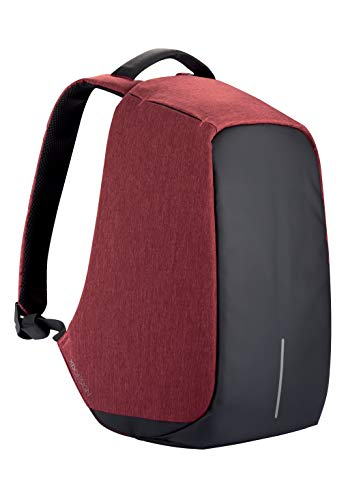 XD Design Bobby Original Anti-Theft Laptop USB Backpack Red (Unisex Bag)