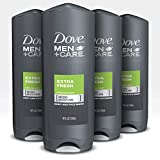 Dove Men+Care Body Wash for Men's Skin Care Extra Fresh Effectively Washes Away Bacteria While Nourishing Your Skin 18 oz 4 Count