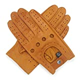 Harssidanzar Mens Lambskin Leather Driving Gloves Ulined NO-Touchscreen GM026,TAN, Size XL