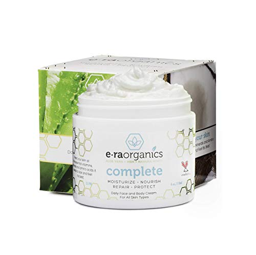 Era Organics Face Moisturizer Cream - Advanced Moisturizing 12-In-1 Dry Skin Cream With Superfood Manuka Honey, Hyaluronic Acid, Hemp Oil & More to Restore Dry, Sensitive Skin on Face, Neck, Hands.