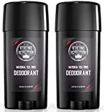 Natural Deodorant for Men - Aluminum Free Mens Deodorant. Odor Protection and Freshness with All Natural Tea Tree Deodorant for Men, 2-Pack