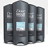Dove Men+Care Body Wash Clean Comfort 18 oz 4 Count Effectively Washes Away Bacteria While Nourishing Your Skin