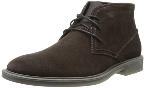 Calvin Klein Men's Ulysses Suede Boot,Dark Brown,13 M US