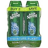 Irish Spring Moisturizing Men's Body Wash, Moisture Blast - 18 fluid ounce (2 Pack)
