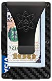 Minimalist Wallet for Men by Copper United - Carbon Fiber Wallet with Money Clip - Secure RFID Blocking Credit Card Holder - Slim and Rigid Wallets - Includes a Cash Strap and Bonus a Pocket Multitool