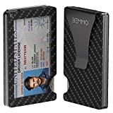 Bemmo Carbon Fiber Card Holder Wallet RFID Blocking With Money Clip   Slim Minimalist Wallet For Men Hold Up To 10 Cards, 1-10 Bills With Show ID Window   Stylish ID Holder Great Gift Idea