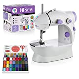 Juvenics Mini Sewing Machine- Small and Travel Friendly Sewing Machine - Foot Pedal- Portable for Small Projects and Quick Repairs
