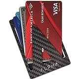 ALPHA Wallet – Minimalist Carbon Fiber Wallet for Men that fits in your Font Pocket – Slim EDC Wallets for Men with RFID Blocking Card