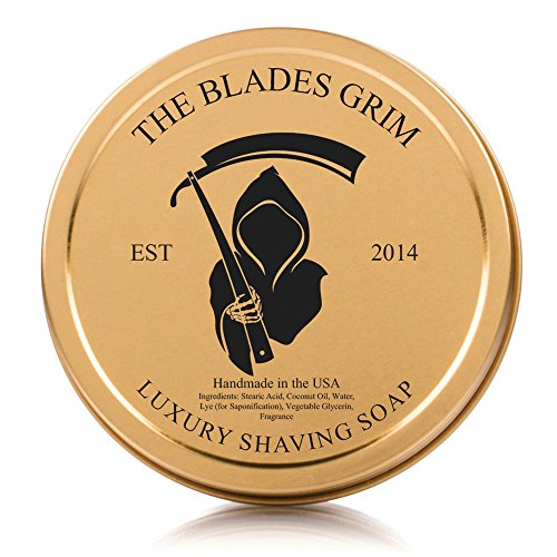 The Blades Grim – Luxury Shave Soap, Handmade in the USA (Smolder, 4oz)