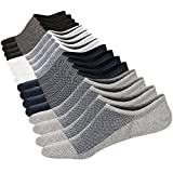 M&Z No Show Ankle Low Cut 8 Pairs Socks Mens/Womens Cotton Invisible Mesh Top Durable Toe Casual Non-Slip Socks Size M