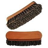 Shoeslulu 5' Mongolian Horsehair Shine Brush with Wood Handle (1 Pack, [5' Long] Horsehair Brush)