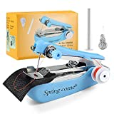 FIFADE Mini Handheld Sewing Machine Portable Electric Hand Sewing Machine Quick Repairing Suitable for Home Travel, Clothes, Cloth, Curtain, Pet Clothes
