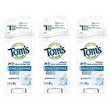 Tom's of Maine Long-Lasting Natural Deodorant, Aluminum Free Deodorant, Deodorant for Women, Unscented, 2.25 Ounce, 3-Pack