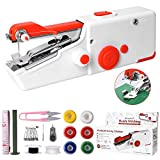 Handheld Sewing Machine, Mini Portable Electric Sewing Machine for Beginners Adult, Easy to Use and Fast Stitch Suitable for Clothes,Fabrics, Cutains,DIY Home Travel