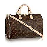 Louis Vuitton Monogram Cross Body Handles Handbag Canvas Speedy Bandouliere 35 Article: M41111