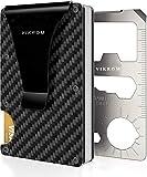 Carbon Fiber Wallet | RFID Blocking Front Pocket Wallet | Carbon Fiber Money Clip | Credit Card Holder for Men and Women | Business Card Holder | Mens Wallet | RFID Wallet | Metal Wallet | Money Clip