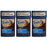 Tom's of Maine Men's Long Lasting Wide Stick Deodorant, Deodorant for Men, Natural Deodorant, Mountain Spring, 2.25 Ounce, 3-Pack