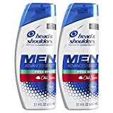 Head and Shoulders Shampoo, Anti Dandruff Treatment and Scalp Care, Old Spice Pure Sport, 21.9 Fl Oz, Twin Pack