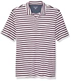 Amazon Essentials Men's Regular-Fit Pocket Jersey Polo, White Stripe, XX-Large