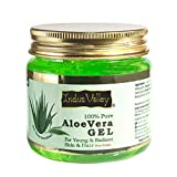 Indus Valley Aloe Vera Gel For Skin & Hair   Aloe Vera Gel Moisturizes Skin   Soothes irritated Skin Caused by Sunburn   Nourishes Hair 175 ml