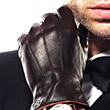 Elma Men Touchscreen Winter Leather Glove Lining Cashmere (9.5, Brown, EM011NR1)