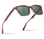 Carfia Chic Retro Polarized Sunglasses for Wome Designer Sunglasses with Case