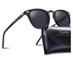 Carfia Vintage Round Polarized Sunglasses for Men