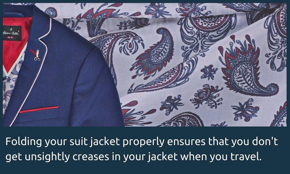 Folding your suit jacket