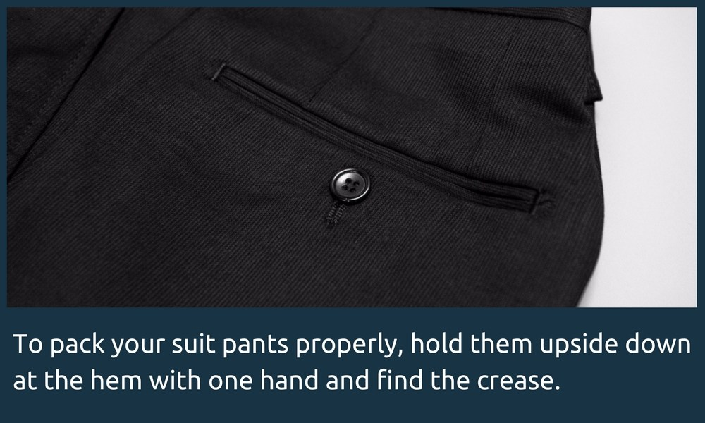 Folding your dress pants