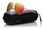 LUENX Aviator Sunglasses Polarized Men with Accessories