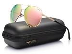LUENX Aviator Sunglasses Womens Polarized Mirror with Case